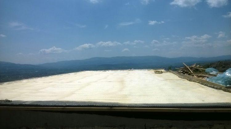 Natrysk pianki PUR - Dach basenu w Nowym Sączu