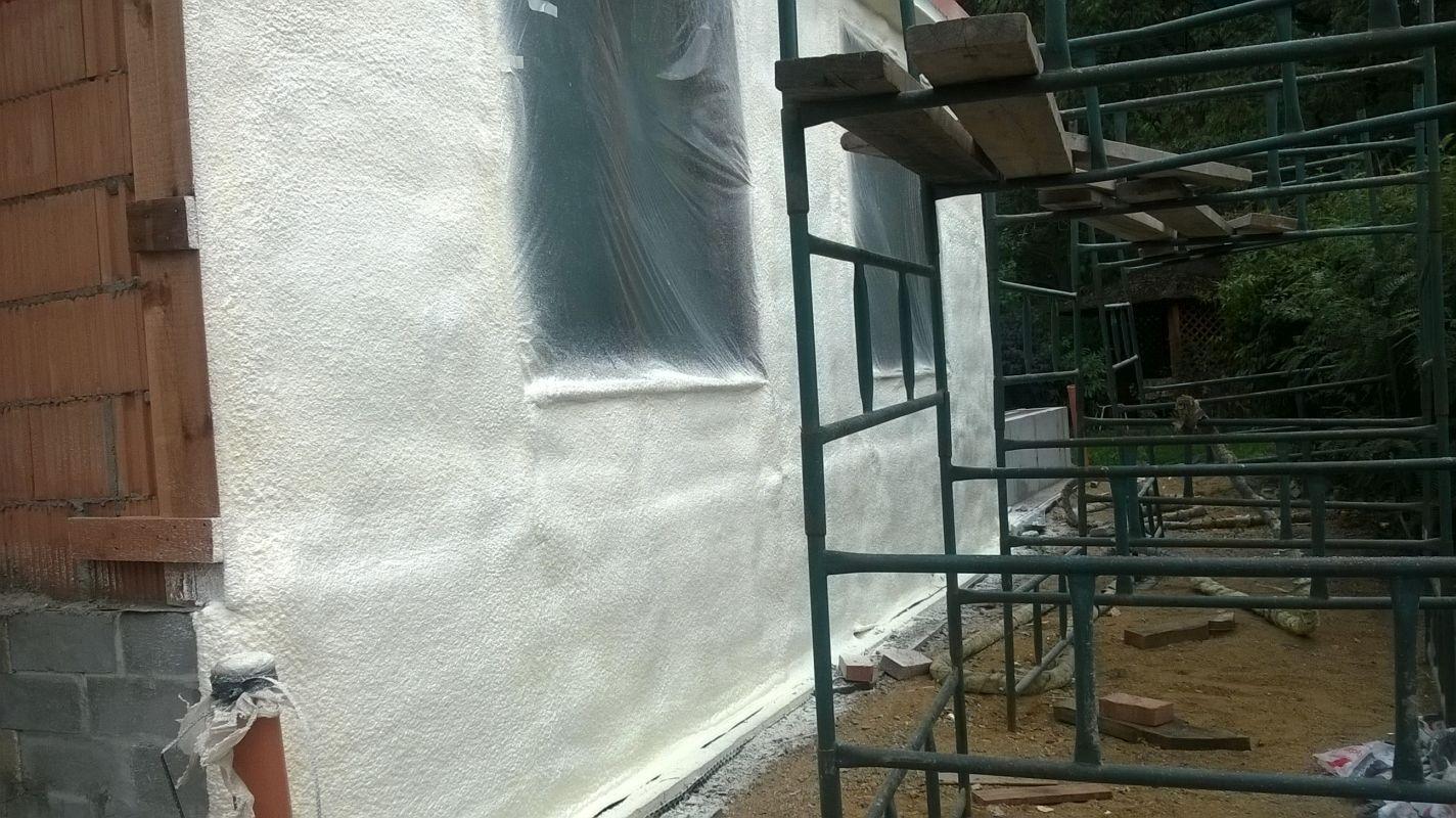 Termoizolacja ścian pianką PUR - Basen Ptakowice